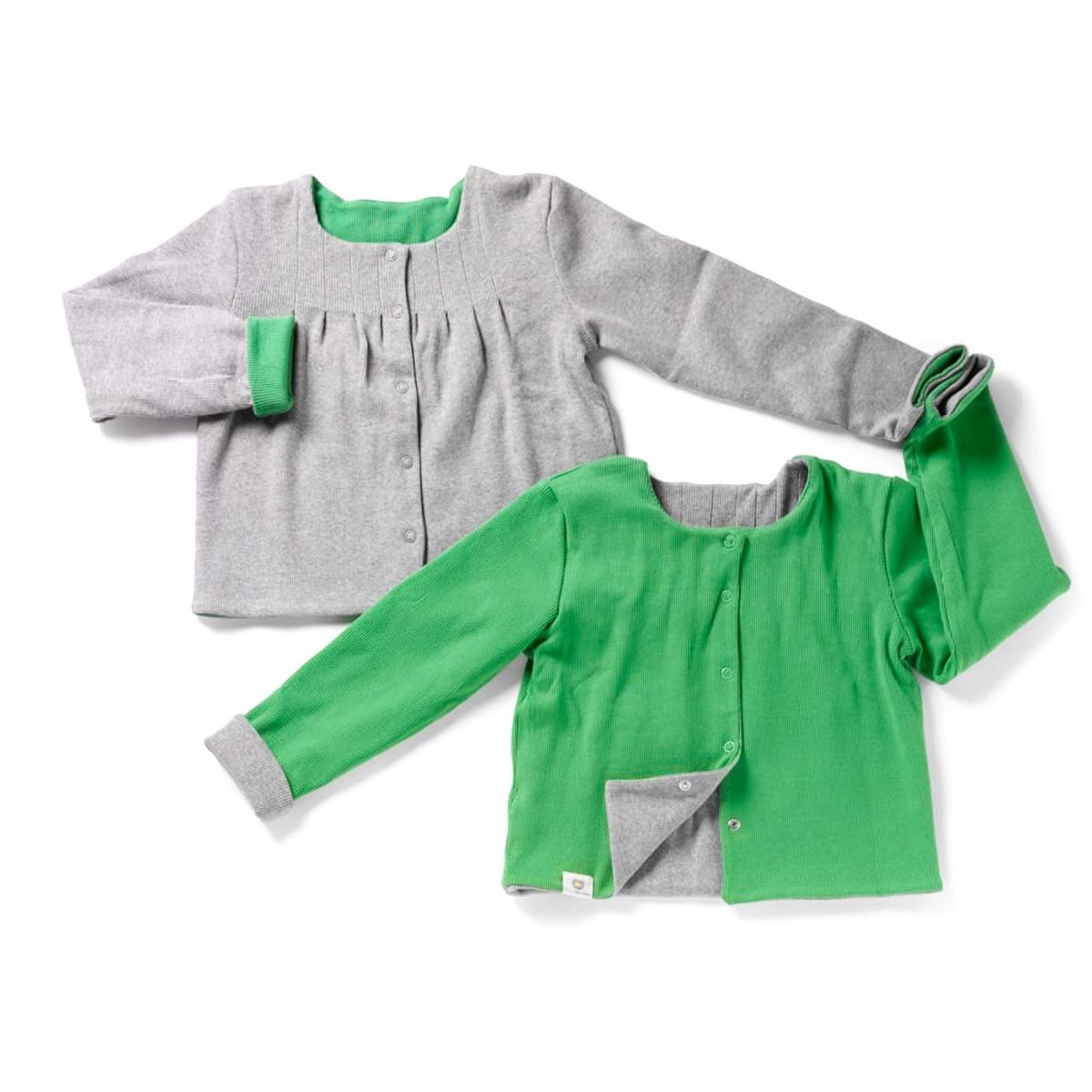 Joseph, le cardigan vert & gris
